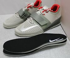 NIKE ROMALEOS 3 WEIGHTLIFTING SHOES SIZE 15 #852933-003 DARK STUCCO -  SILVER