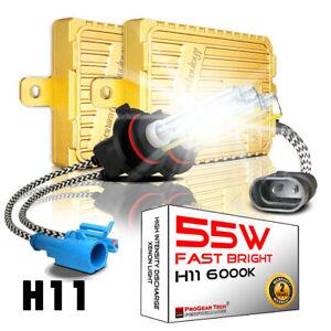 55W H8 H9 H11 6000K Heavy Duty Fast Bright AC Digital HID Xenon Conversion Kit