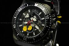 Invicta 48mm Disney Limited Ed Pro Diver Micky Mouse Chrongraph All Black Watch