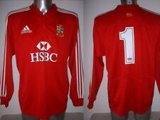 British Lions Gethin Jenkins Wales Adidas L/S Large Rugby Union Shirt Jersey Top