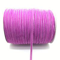 New 5 Yards 6mm Light Purple Velvet Ribbon Headband Clips Bow Wedding Decoration