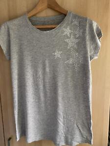 Zadig & Voltaire Women's Skinny Stars Strass T-shirt Blouse- Grey Marl(M/BNWD)