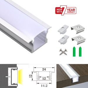 ATOM LED Strip Light Aluminium Recessed Profile Milky Cover Cabinet LED Channel