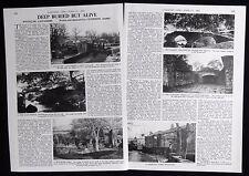 WYCOLLER VILLAGE LANCASHIRE PEARSON'S FARM HALL ETC 2pp PHOTO ARTICLE 1981