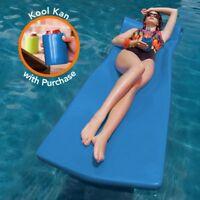 """Texas Rec 70"""" x 26"""" x 1.75"""" Kool Float Swimming Pool Foam Mattress - Blue"""