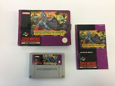 SUPER GHOULS N GHOSTS Official super Nintendo PAL Version boxed made in Japan