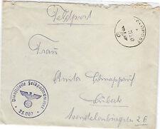 *Feldpost II. WK - 1942 * nach lübeck (Brief) (48)