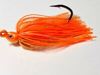 3  1/4 Oz Lite Salmon Poison Tail Swim Jig Mustad (Fluke Sea Bass Striper)