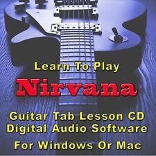 NIRVANA Guitar Tab Lesson CD Software - 123 Songs