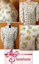 Dorothy Perkins - Light Wear Yellow Floral Print Cardigan RTL  £29.50  size 8-18