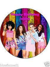 "Little Mix 7.5"" Rice Paper Birthday Cake Topper LM14"