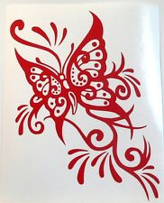 adesivo farfalla fiore murale decal sticker vinile sticker butterfly 500 fiat ok