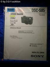 Sony Service Manual DSC S85 Level 1 Digital Still Camera (#6490)