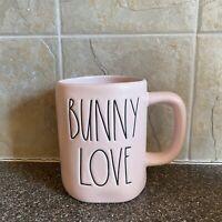 "New Rae Dunn Artisan Collection Easter BUNNY LOVE"" Pink Mug By Magenta"