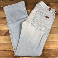 7 For All Mankind Women's A Pocket Jeans Size 30 (32x33) USA Made Mid Rise Seven