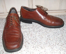 Men's FRANCO FORTINI Leather Oxford Dress Shoes~Brown~Size 9 M