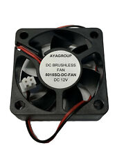 AYA 50x50x15mm 5015 12V 5000RPM Cooling Small Exhaust Fan with 2-Pin Connector