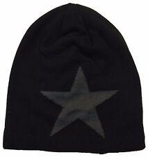 Men Women Slouchy Baggy Star Pattern Fashion Faux Fur Knit Ski Beanie Hat Cap