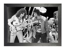 Van Halen 5 American Rock Band Poster Roth Music Star Black White Guitar Stage