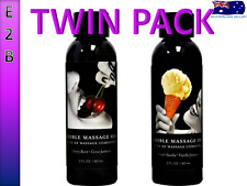 Twin Pack Edible Massage Oil Cherry & Vanilla Flavoured Erotic Massage Oil