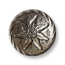 4 hermosa altsilberfb. botones de metal con Edelweiss para Trachten (j051-28mm)