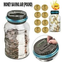 Electronic Piggy Bank Digital Coin Money Automatic Counter Counting Jar Saving