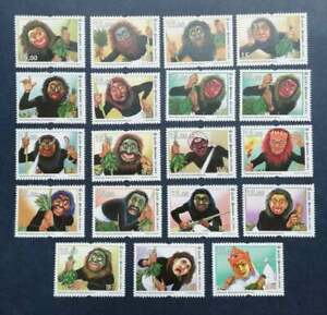 Sri Lankan stamps 18 Sanniya Stamp set with Error Stamp (18v) 2018