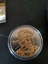 BARRY BONDS Highland Mint .999 FINE SILVER Coin Medallion & Info Card & COA