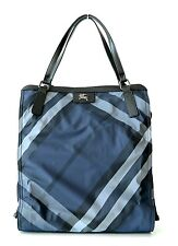 Burberry Buckleigh Nylon Shoulder Bag Tote Shopper Blue Nova Check New