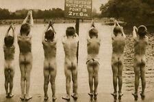 Boys swimming in Clapham park, Vintage 1920s Photo (Reprint)