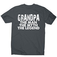 Grandpa the man the legend awesome funny slogan t-shirt men's