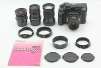 【MINT 4Lens Set】 Mamiya 7 II Black + N 43mm 65mm 80mm 150mm L F4 F4.5 Japan #764