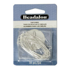 Beadalon® Small Hoop Ear Wires 20mm Silver Plated 16 pieces