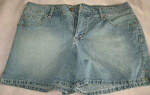 FADED GLORY Blue Regular Casual Denim Shorts Womens size 16