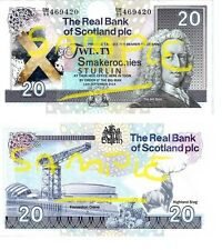 Special Edition Novelty Scottish Landmarks Smakeroonies Bank Notes