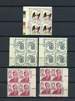 SCOTT # 1288 ,1596 & 1581 - THREE PLATE BLOCK OF 4 (1,13 &15)  STAMPS - OG - MNH