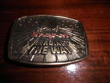 Vintage Brass SNAP-ON TOOLS Belt Buckle 1988 Ltd. Edition Leading The Way