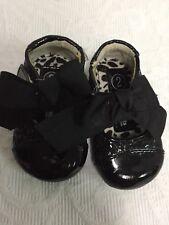 New Genuine Kids By Oshkosh Toddler Girls Joli Ballet Flats Crown Black Size 8