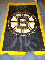 """Boston Bruins 27"""" x 43"""" Two-Sided Vertical Flag see pics, ?vintage? free ship"""