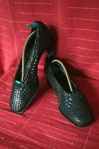 Jolis escarpins en cuir tressé BERTIN Palais de la Chaussure taille 40,5