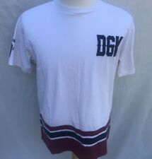 DGK Dirty Ghetto Kids T Shirt Mens Size XL Embroidered Red White Blue 2002 718