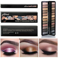 12Colors Cosmetic Makeup Eyeshadow Eye Shadow Palette Powder Matte Shimmer Kit