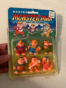 VINTAGE 1986 Soma RARE My Pet Monster MONSTER MAN Soft PVC Figures MASTER MOC