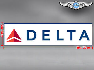 DELTA AIR LINES AIRLINES NEW RECTANGULAR LOGO DECAL / STICKER