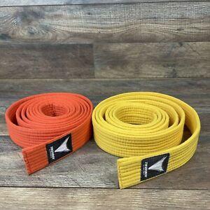 2 Pack Adult MMA KARATE MUAY THAI KICK BOXING Fabric Belts THUNDER by PRO FORCE