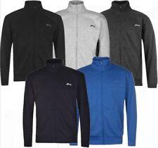 ✔ SLAZENGER Herren Sweatjacke Fleece Reißverschluss Pullover Sweatshirt Jumper