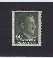 MNH Adolph Hitler stamp 60GR / 1941 issue WWII / Third Reich / Occupied Poland