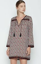 NWT $168 Soft Joie Daria C Tunic Dress in Porcelain & Fired Brick Floral; M