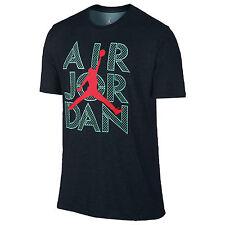 NIKE Jordan AJ Stencil Dri-FIT T-Shirt sz 3XL XXX-Large Black Turquoise Infrared