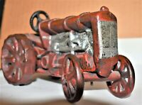 1930 Arcade Red/Silver Cast Iron Toy Farm Tractor, Collectible Great Condition